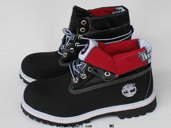 timberland rouge homme prix